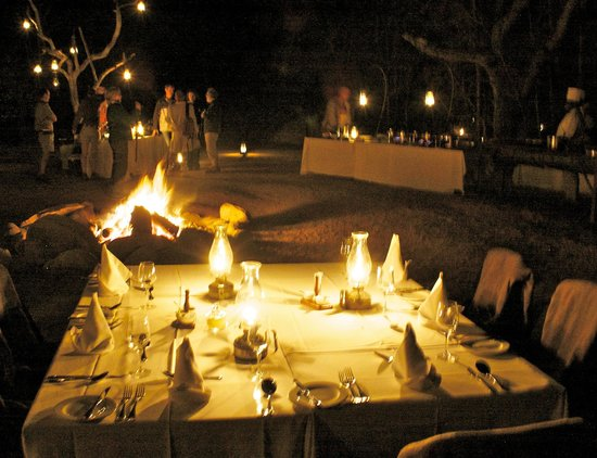 Sabi Sabi Selati Camp: dinner outside