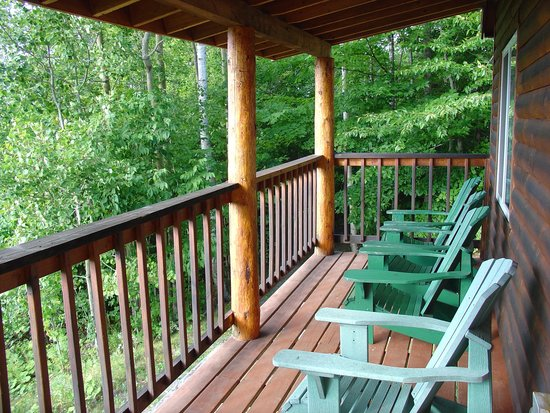 Moosehead Hills Cabins: On the porch