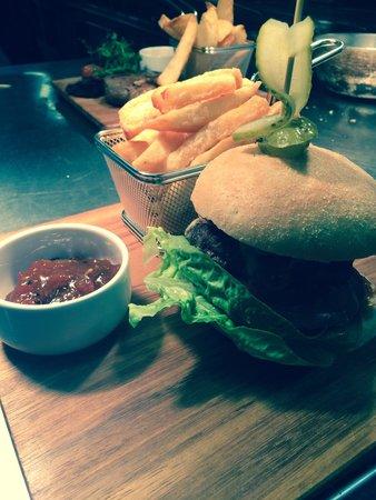 Malmaison Brighton : Home made burger and hand cut chips!