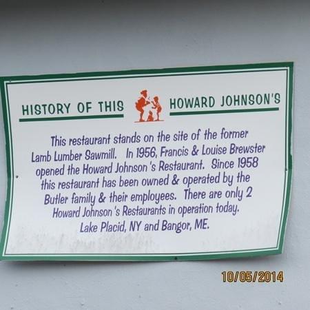 Howard Johnson Restaurant: The historical perspective.