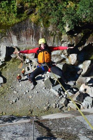 Alpin Raft : 50m rappel