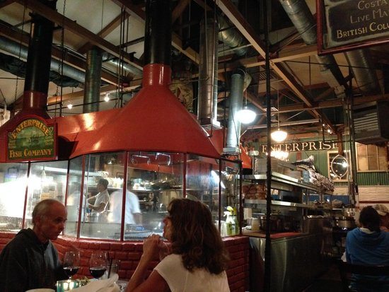 Open kitchen picture of enterprise fish co santa for Enterprise fish co santa barbara