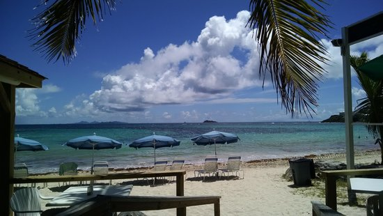 Mr. Busby's Beach Bar: View from our table