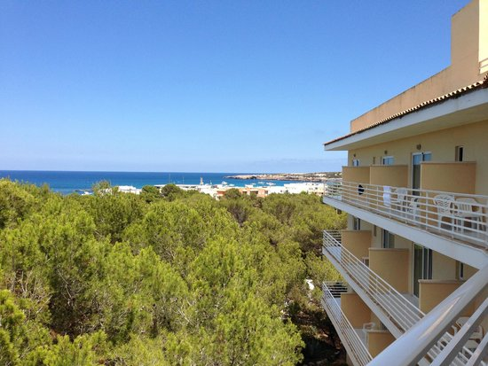 Hostal Cala es Pujols: Panorama dalla camera all'ultimo piano