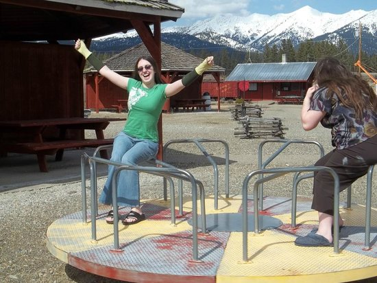 Sumpter Valley Railway: Checking out the playground