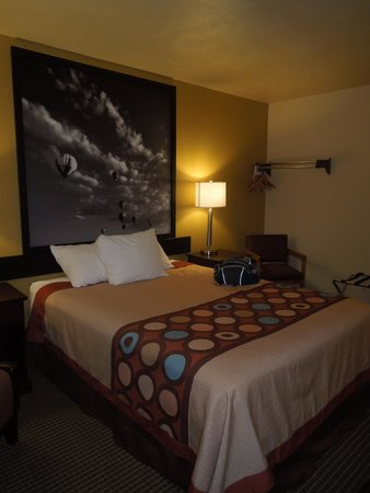 Super 8 Idaho Falls: Decent bed (and balloon)
