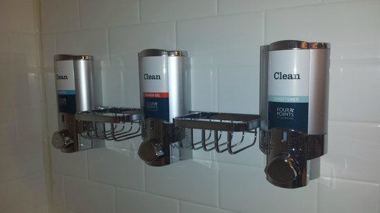 Delicieux Four Points By Sheraton Charleston: Shampoo/Conditioner/Soap Dispenser In  The Shower