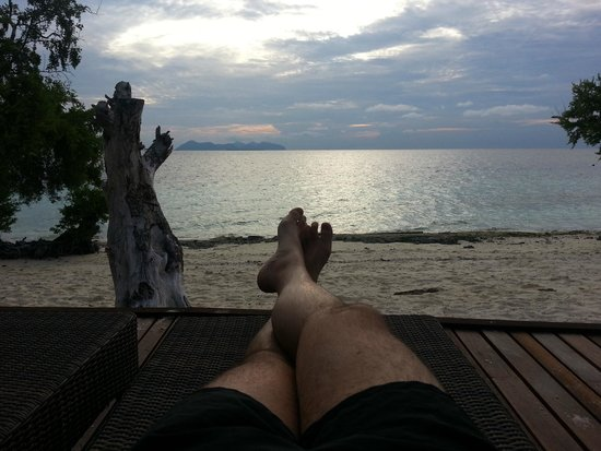 The Reef Dive Resort: Chilling near the Spa Area
