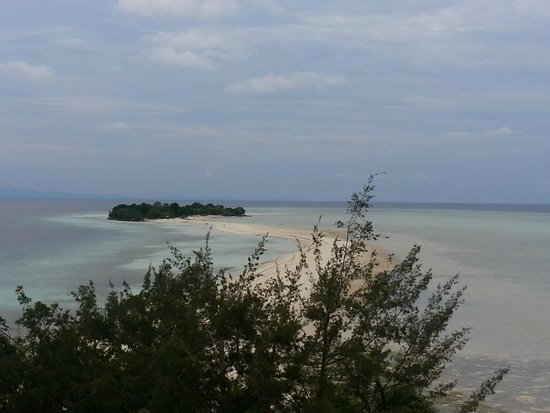 The Reef Dive Resort: From the gaurd tower looking toward the connected island