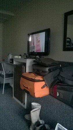 Te Anau Kiwi Holiday Park: Decent size TV
