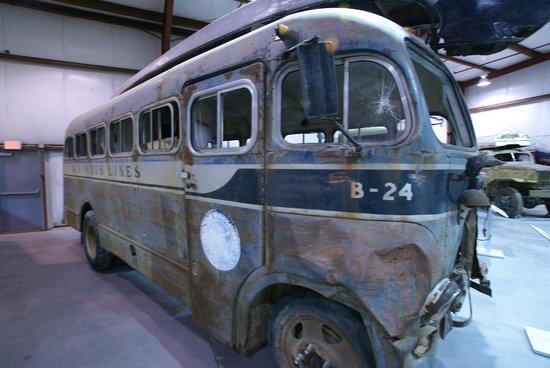 Yukon Transportation Museum: bus leaving on platform 4