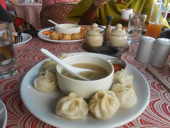 Tibetan Kitchen: Hot steamed momos served with soip