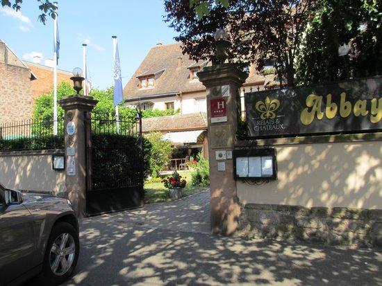 Abbaye de la Pommeraie : entrance