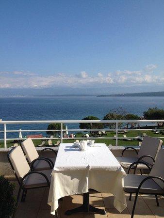 Hotel Pinia: Blick vom Restaurant.