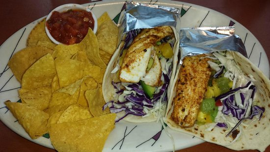 Anthony's Blackened Halibut Tacos