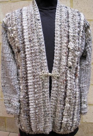 Knits By Pamela: Biscuit jacket in textured yarns