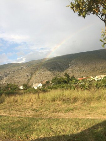 Blagaj tekija: A rainbow right out side the area