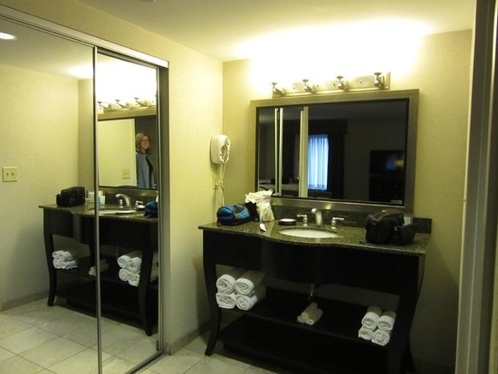 Hampton Inn & Suites Nashville - Downtown: Closet and vanity