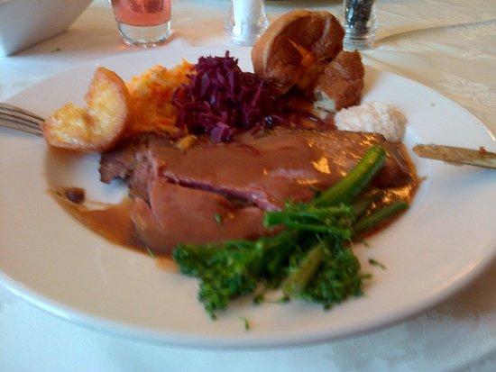 Willington Hall Hotel: Roast beef Sunday lunch