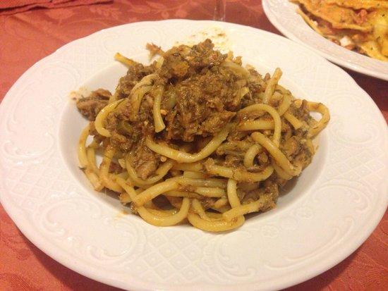 Ristorante Monte San Giuliano: Pasta con le sarde