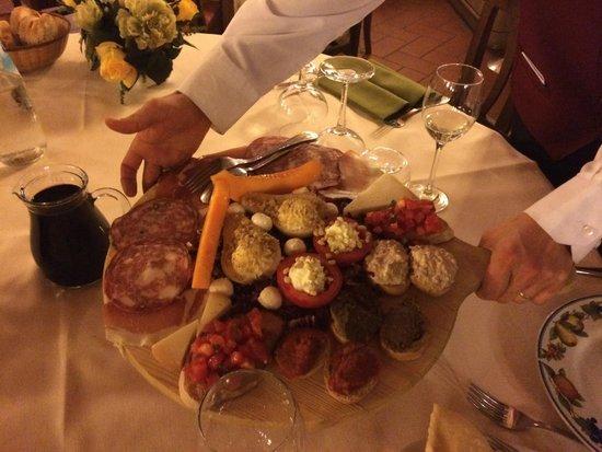 Villa Leccarda: Het voorgerecht Antipasti del Casa