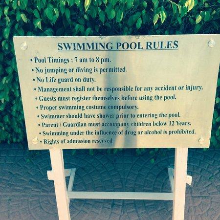 Inder Residency : pool rules