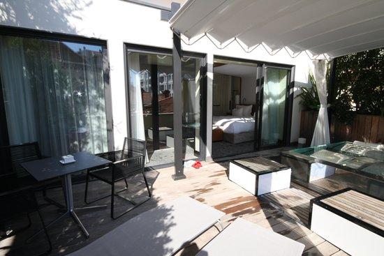 Five Seas Hotel Cannes: Terrasse