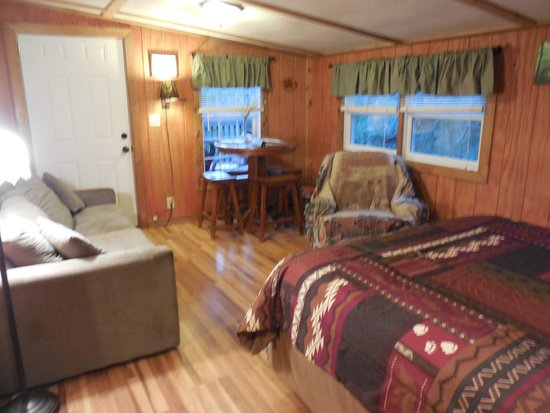 Rim Rock's Dogwood Cabins: Bear's Den main room/bedroom