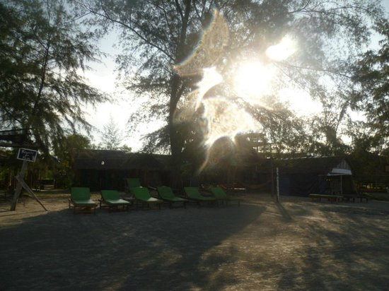 Castaways Beach Bar & Bungalows: dawn at Otres, tranquil and luminous