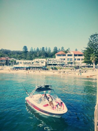 Beach Club at Watsons Bay Boutique Hotel: Looking back at the pub