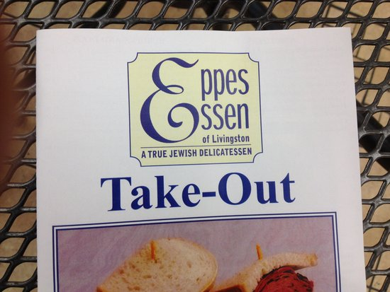 Eppes Essen: Takeout menu