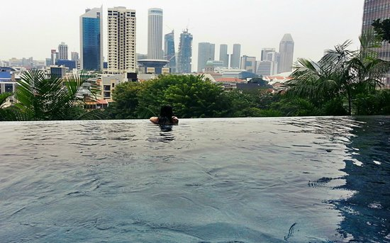 View from infinity pool picture of parkroyal on pickering singapore tripadvisor for Park royal pickering swimming pool