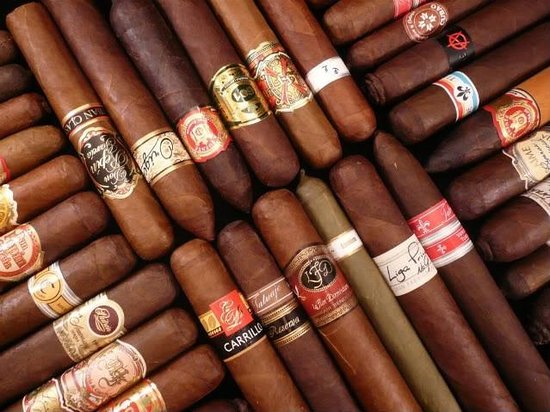 Mathews, VA: Full humidor with a large selection of cigars for sale in WDB's Cigar bar.