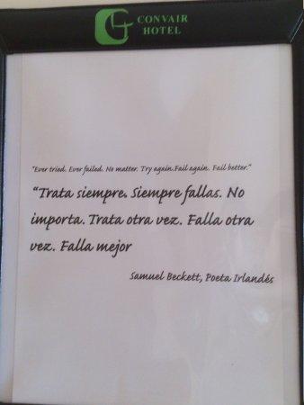 Frases Celebres 2 изображение Hotel Convair Ciudad Del