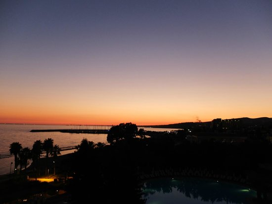 Parklane, A Luxury Collection Resort & Spa: Sunset view  from west facing  room [third floor]