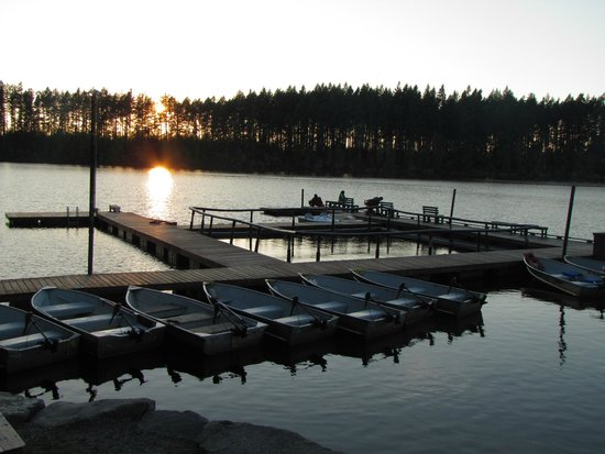 Offut Lake Resort: Sonnenuntergang am See