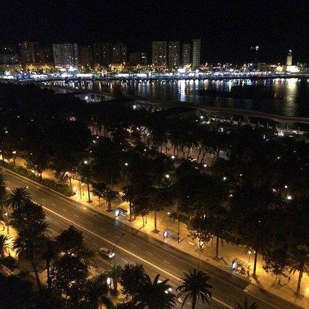 AC Hotel Malaga Palacio: Вид на бухту с ресторана/бара на крыше