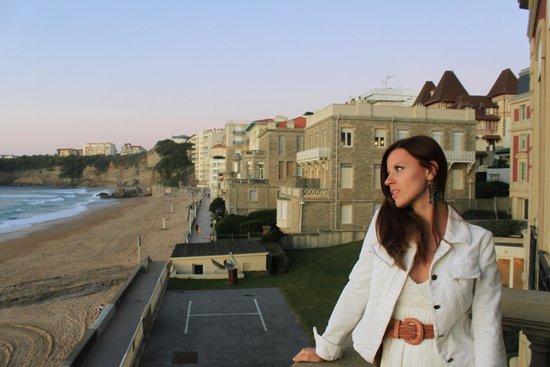 Hôtel du Palais : вид из номера. стою на балконе