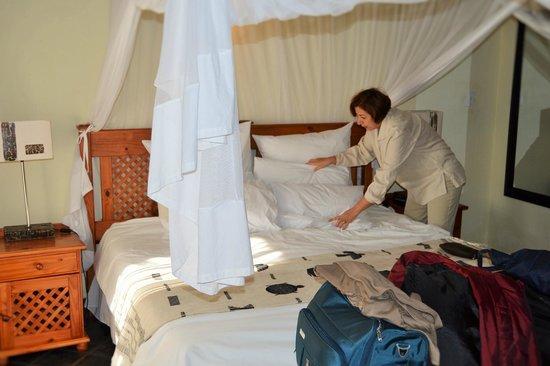 La Lechere Guest House: Comforter Bed