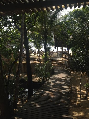 Pousada Bahia Bonita: Do café da manhã para praia