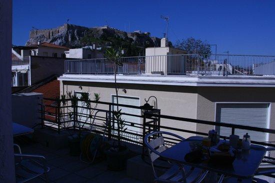 Kimon Athens Hotel: Вид на Акрополь