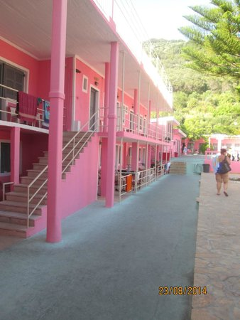 The Pink Palace: pink palace hostel rooms