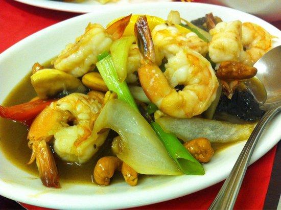 Thai Manor Restaurant: Prawn stir-fried with cashew nut