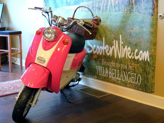 Villa Bellangelo Winery: Mascot for their Scooter Wines