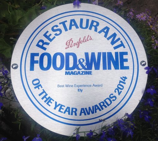 ely bar & brasserie: Best Wine Experience in Ireland 2014 at the Food & Wine Magazine Awards