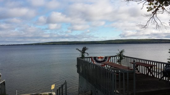Hubbard Lake, MI: A beautiful view right out the door of cabin 1