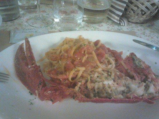 Ristorante Cozze & Gamberi: Hummer mit Pasta