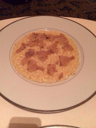 Il Lago at The Four Seasons Hotel: Trufle risotto
