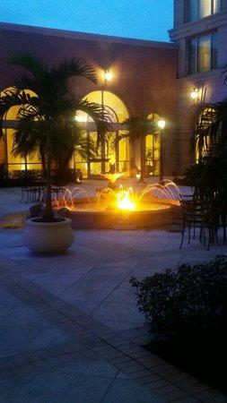 Renaissance Tampa International Plaza Hotel: Courtyard at night