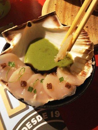 Casa Marcelo: Sashimi de vieiras.